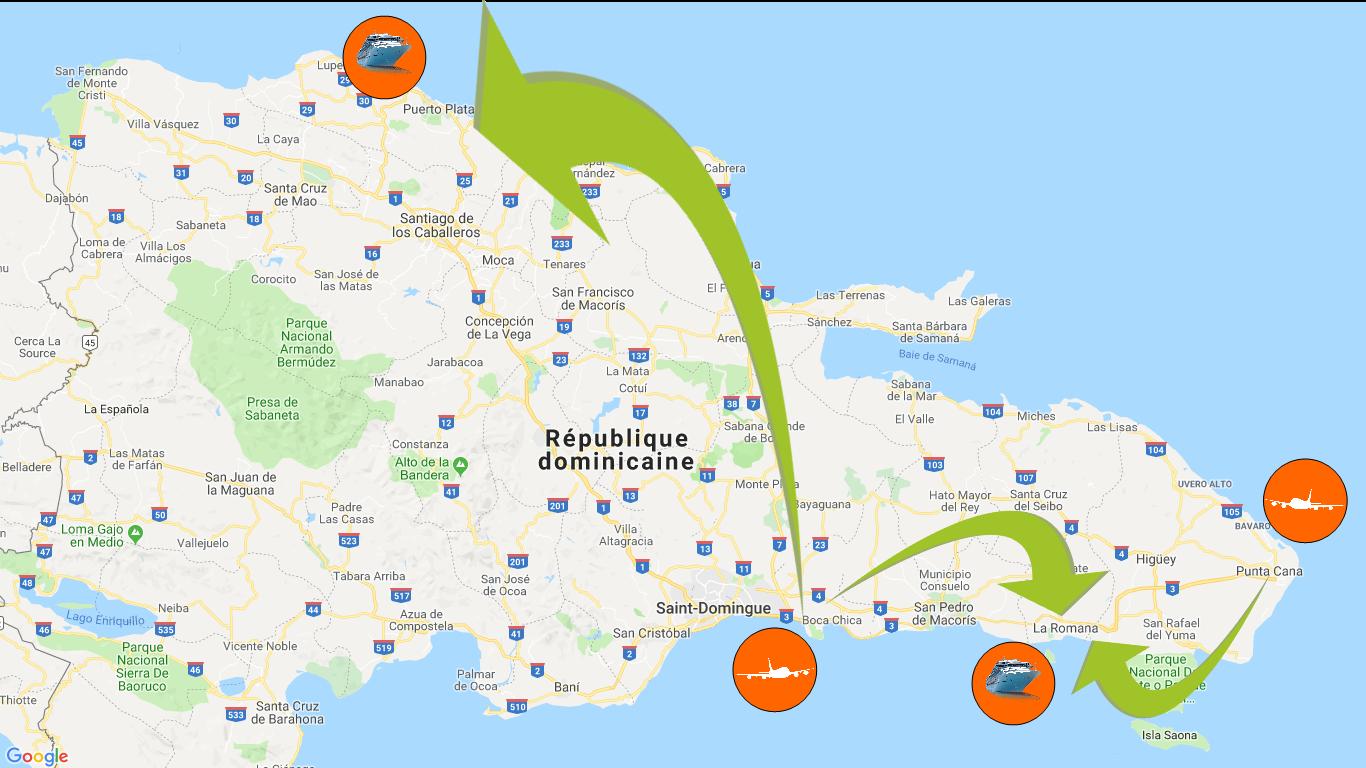 drtransfers | puerto de crucero Casa de Campo | puerto de crucero La Romana | Taxi | servicio de autobus hasta el puerto de crucero la romana